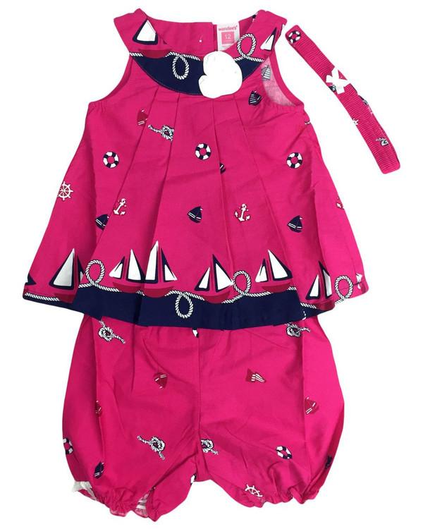 Baby kid set - magenta marine