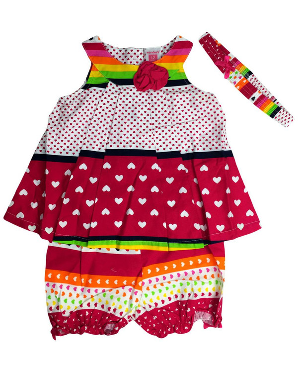 Baby kid set - colorful hearts