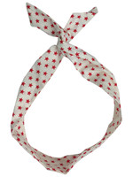 Red and white stars - pin up head band