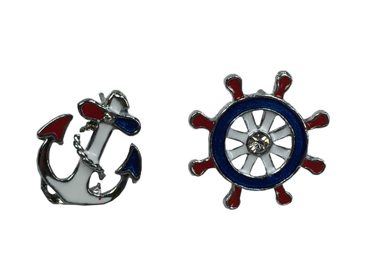 Anchor and wheel red white