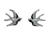 Swallow black white