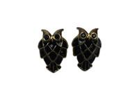 Owl big ears black gold