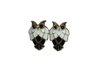 Owl big ears white gold