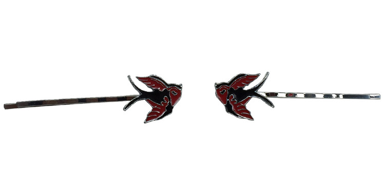 Cute bird red black