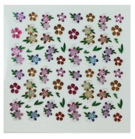 Colorful flowers art 1 - nail stickers