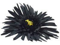 Black daisy single hair flower clips
