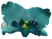 Blue orchid single hair flower clips