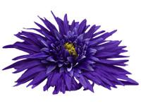 Purple daisy single hair flower clips