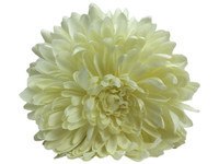 White opium double hair flower clips
