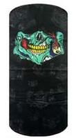 Green zombie smile on black
