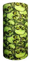 Skull heap on toxic green