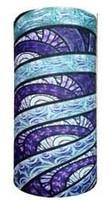 Circular bands of aqua blue shades