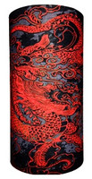 Oriental red dragon on black