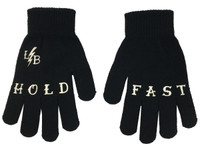 Black and white hold fast gloves liquorbrand
