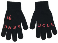Black and red baby doll gloves liquorbrand
