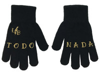 Black and beige todo nada gloves liquorbrand