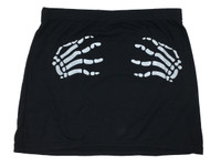 Death grip black cute mini skirt