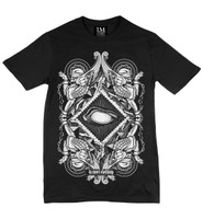 Ivory on black la mort t-shirt