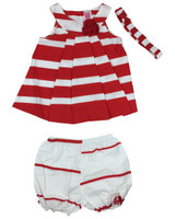 Baby kid set - stripe red white