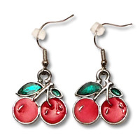 Cherries big - sweet pendant earrings