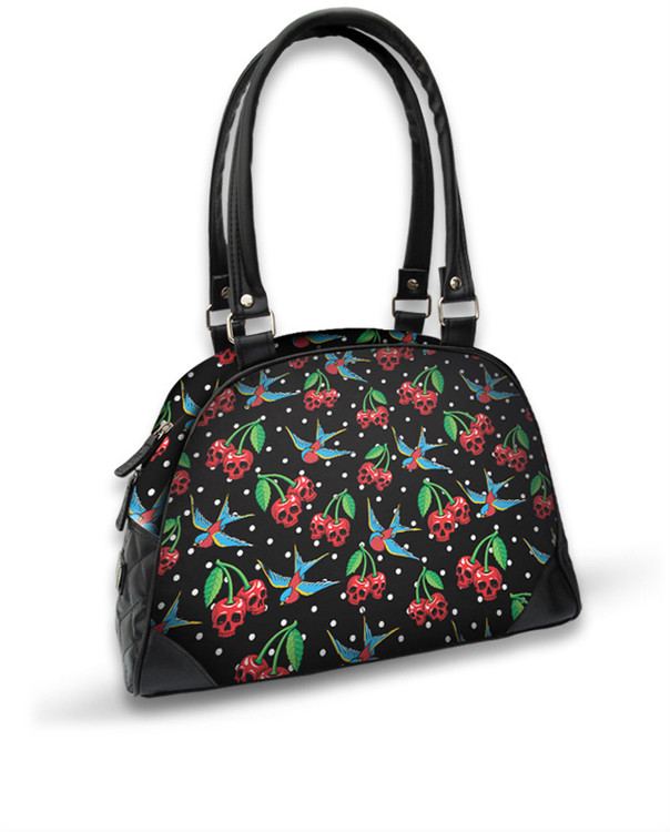 Cherries skulls bowling bag liquorbrand