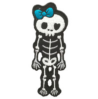 Cute skeleton blue skull extra big