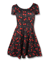 Cherries art black skate dress liquorbrand