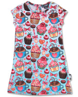 Cupcake blue six bunnies dress