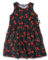 Cherries art black six bunnies dress