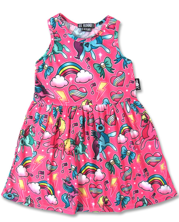Unicorn pink six bunnies dress