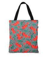 Cherries stripes tote bag liquorbrand