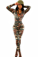 Front - The army soldier catsuit