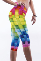 Right - Colorful plaid print yoga