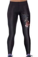 Front - Howling in the dark women trendy yoga pants