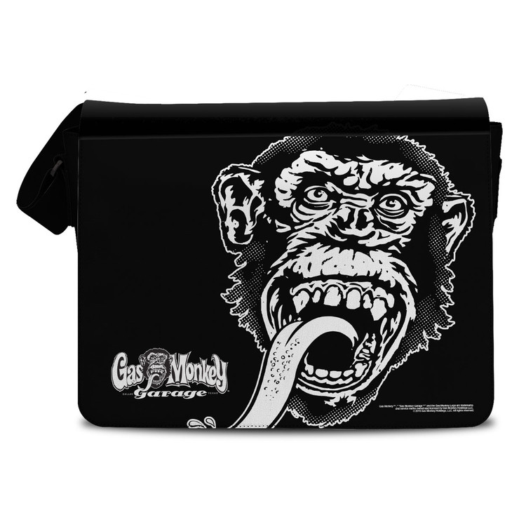 The mighty monkey head - gas monkey garage messenger bag