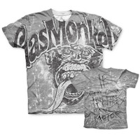 Grunge worn out grey - gas monkey garage