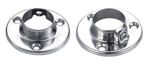 End Support Flange For Round Closet Rod