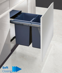Garbage Bins System - Width 15-3/4 Inches