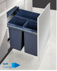 Garbage Bins System - Width 21 Inches
