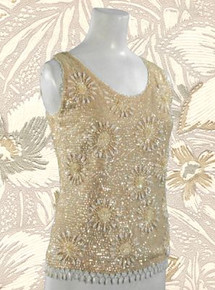 Sparkly Marco Polo beaded tank
