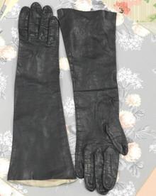 Vintage black kid leather gloves