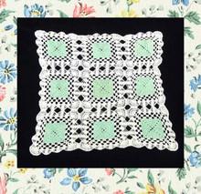 Mint julip green & white doily
