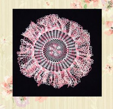 Crocheted cotton doily