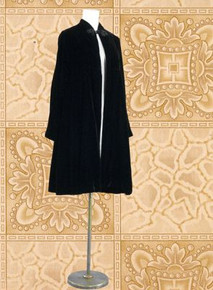 Black velvet Babette evening coat