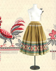 Vintage cotton print skirt