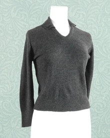 Charcoal 1950s sweater top