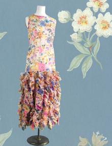 1970s silk organza dress
