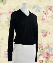 Versatile black sweater top