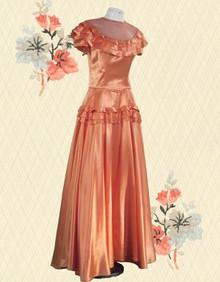 Vintage Emma Domb satin gown