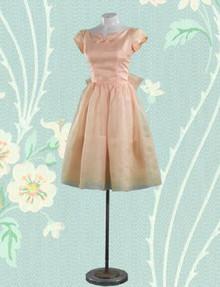 Peach blossom organdy frock